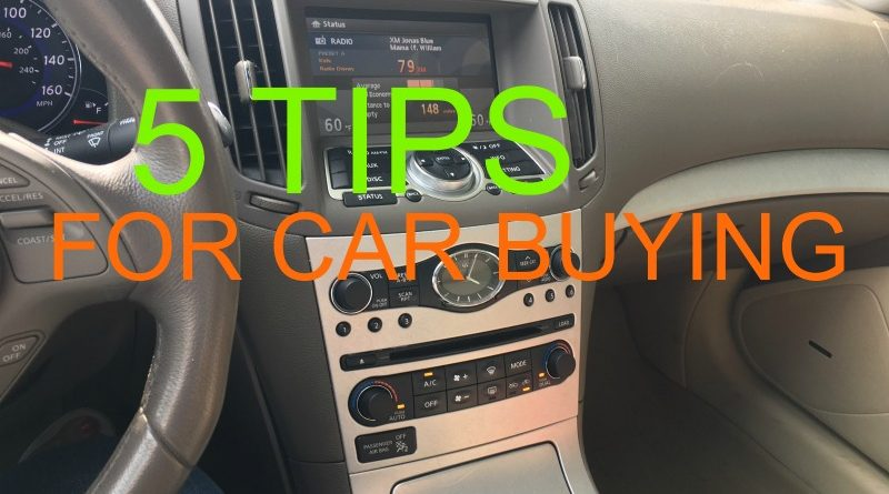 5 Essential Car Buying Tips