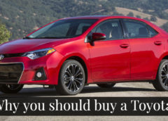 Why you should buy a Toyota.